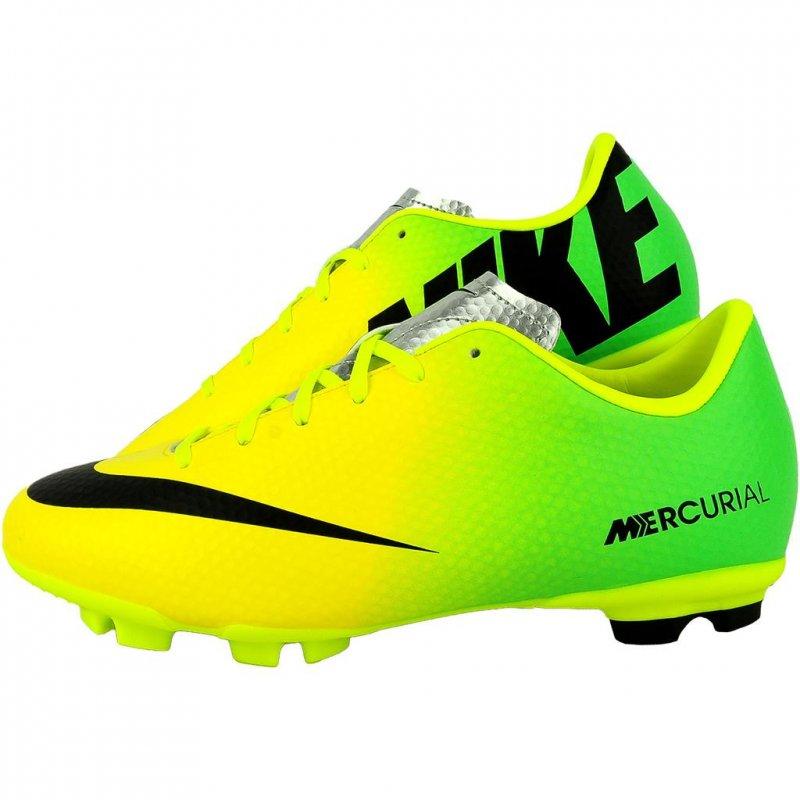 fde7e489d1e8 Nike JR Mercurial Victory IV 553631703 - Fussball Schuh Neon Grün / Gelb  Größe 37,