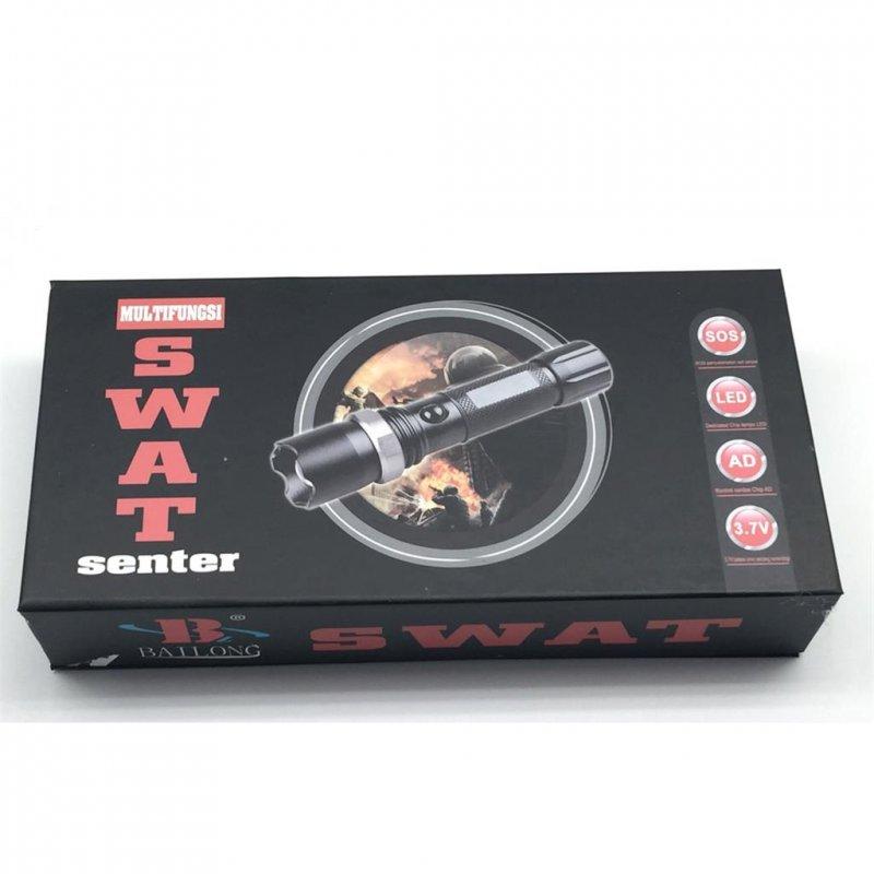 swat cree led taschenlampe 2x6800mah akku ladeger te 12 90 eur. Black Bedroom Furniture Sets. Home Design Ideas