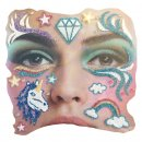 Gesichts Tattoo Face Art Einhorn Unicorn Halloween Karneval