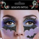 Gesichts Tattoo Face Art Fledermaus Halloween Karneval