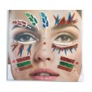 Gesichts Tattoo Face Art Indianer Halloween Karneval