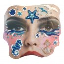 Gesichts Tattoo Face Art Marine Halloween Karneval