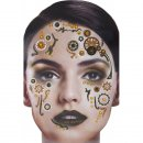Gesichts Tattoo Face Art Steampunk Halloween Karneval
