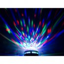 Rotierendes RGB LED-Partylicht E27 Fassung 3W Discokugel...